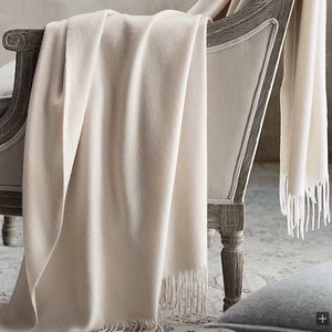 NEW! Restoration Hardware 555-Gram Cashmere Throw